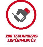 200 techniciens expérimentés